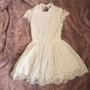 Keepsake white lace skater dress